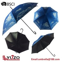 promotional 23'' auto open blue sky straight umbrella