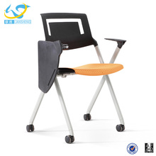Simple folding office chair office training with writing pad conference chairs