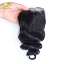 China Supplier Wholesale Price Natural Color Body Wave 8A Grade Virgin Brazilian Hair Silk base Lace Closure