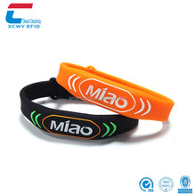 13.56Mhz Waterproof NFC Silicone Rfid Wristbands for Swimming Pool