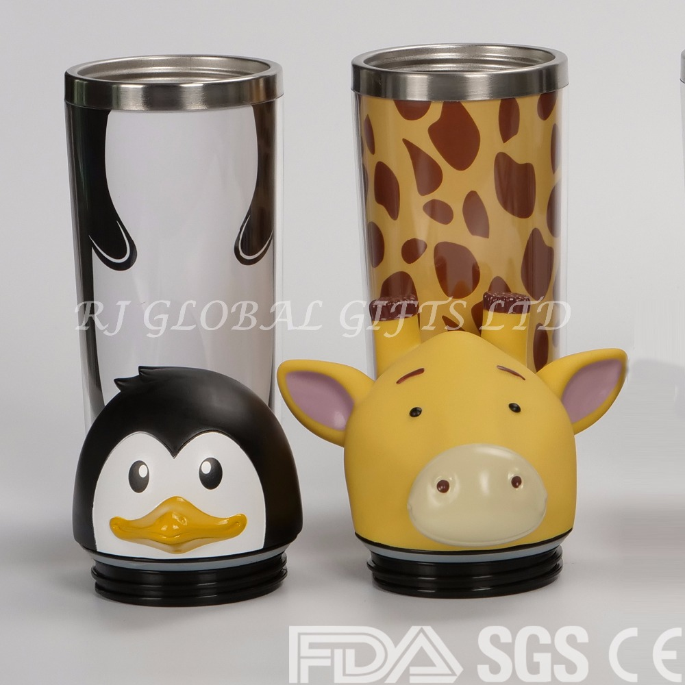 Custom Any Shaped Stainless Steel Animal Coffee Cup