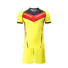 Latest jersey football design 2017 yellow color dry fit football t-shirts new model wholesale sports jersey for clubs