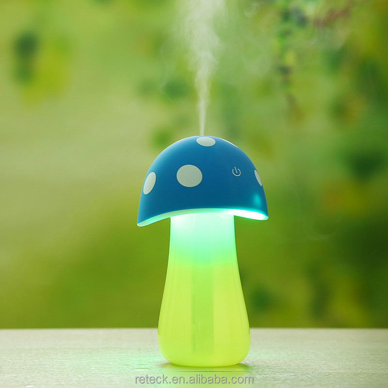 Mushroom Mini Humidifier Air Portable USB Essential Oil Electric Car Aroma Diffuser Night light Purifier Mist Maker
