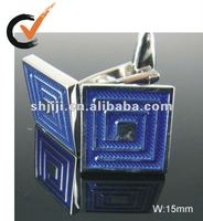 2012 Hot Sell Blue Lines Enamel Jewelry Cufflink