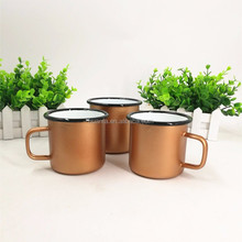 2017Most Popular Color Electroplate Copper Enamel Camping Cup Mug