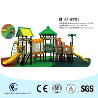CE and RoHS certified plastic slide kids playground equipment for day care center