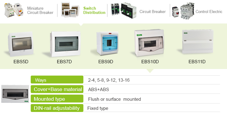 EBS10D Series Factory Price With Transparent Door Plastic Electrical Distribution Box