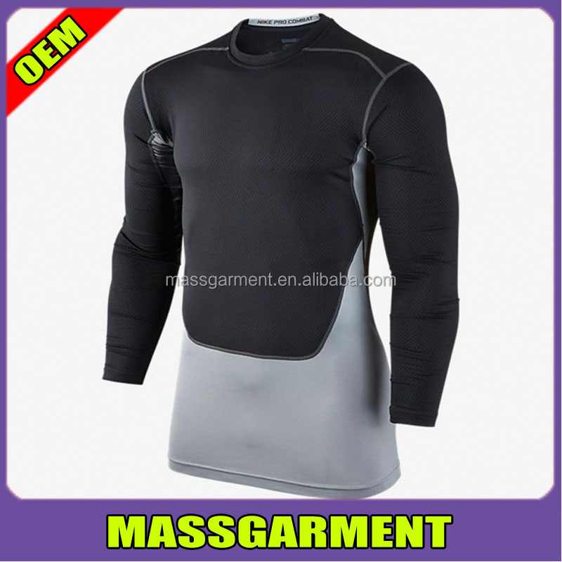 OEM Service Dri-FIT 100% polyester gym Sport knit Mens long sleeve t shirt