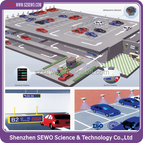 Ultrasonic Counting Sensor Wire Car Parking Guidance System with LED Display