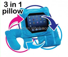 New fashion go go pillow 3 in 1 ipad car table back seat pillow