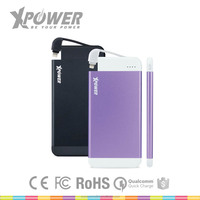 XPOWER OEM Advertising MFi USB Port 4100mAh Ultra-Slim Portable Power bank for cell phone