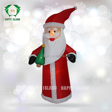 Happy time Christmas Santa Claus for sale ,LED Christmas decoration,inflatable Santa 's gift