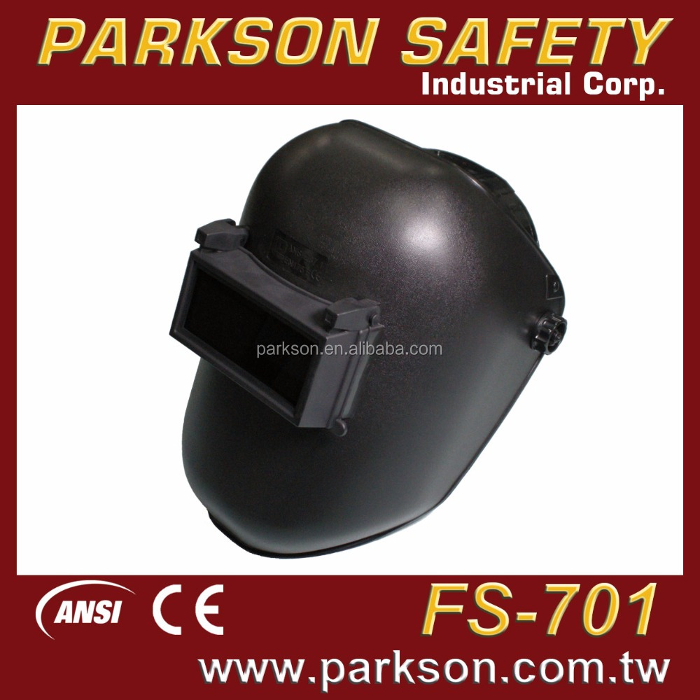 PARKSON SAFETY TAIWAN High Quality Flip Up Window Black Workers Wearing CE EN175 ANSI Z87.1 Welding Headgear With Price FS-701