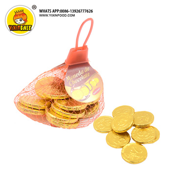 Colorful gold milk compound coin chocolate and candies