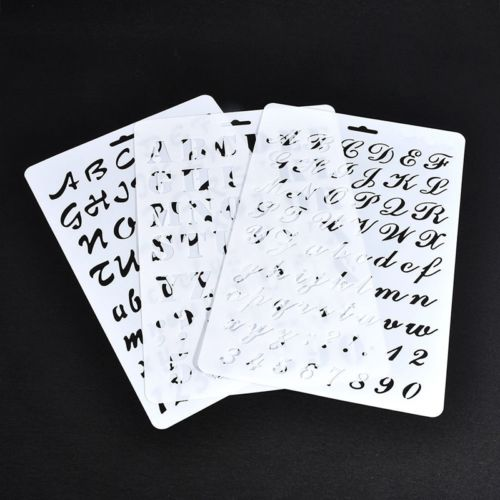 Recyclable polypropylene kids Drawing Plastic number stencil set for educational
