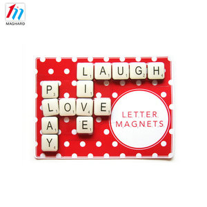 Educational toys epoxy alphabet magnetic letter puzzle