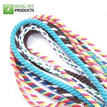 Wholesale 2mm 5mm 3 -stand colored decorative rope cotton