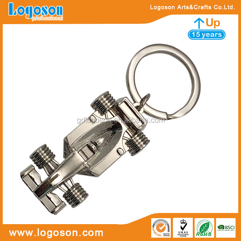 Promotional Travelling Gift Metal Aircraft Airplane Shape Keychains Collectable Silver Helicopter Keyring