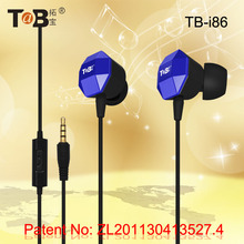 2016 Fashionable private moulding in-ear earphone with mic for tablets laptop skype mobile phone with patent number