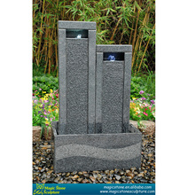 artificial granite stone wall water fountain with LED