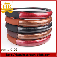 colorful soft sheepskin leather steering wheel covers factory