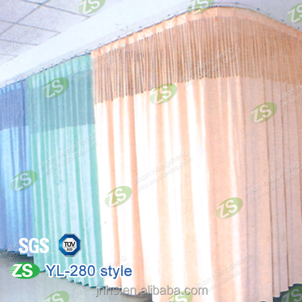 Waterproof Polyester Hospital Ward Sickroom Sheer Curtain with Mesh