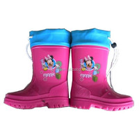 classic hcg injection PVC rain boots,adjustable waterproof kids shoes