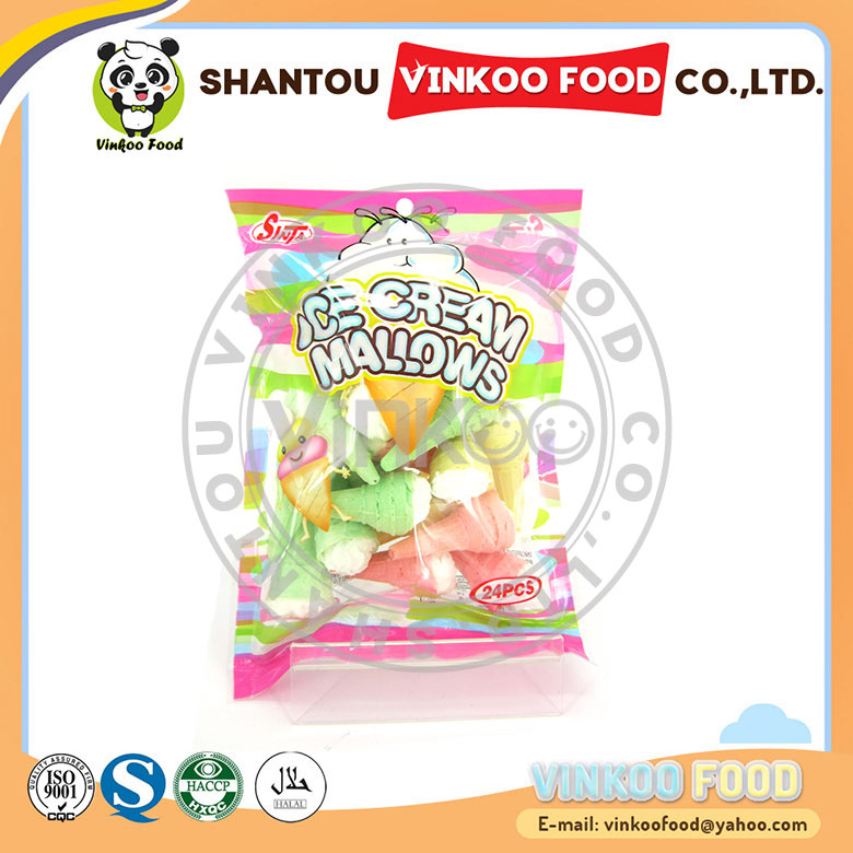 wholesale colorful ice cream fruity marshmallow candy