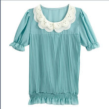 Flower decorative Fashion Chiffon lady Top