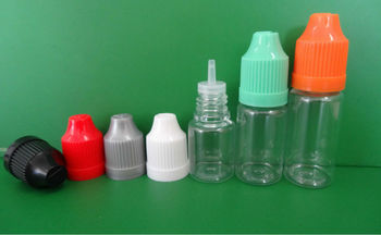 transparent empty plastic bottle for e cig liquid with childproof cap JB-228