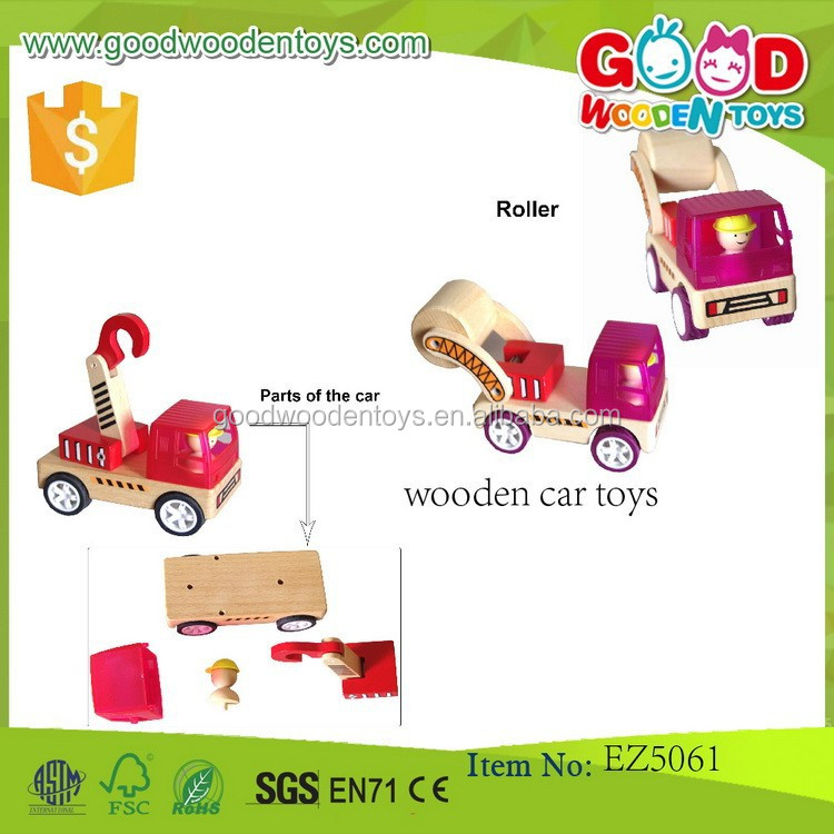 2017 Hot Sale Wooden Car Truck Toys Assemble Toys Race Game Mini Children Toys Car