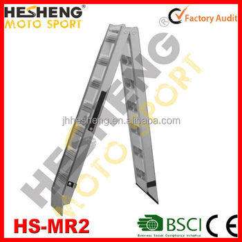 550LBS capacity trailer ramps 5.2kg light weight motorcycle loading ramp for trailers(HS-MR2-25cm)