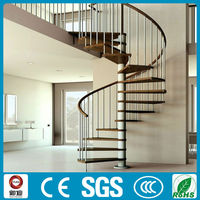 Modern design PVC handrail spiral stairs for interior