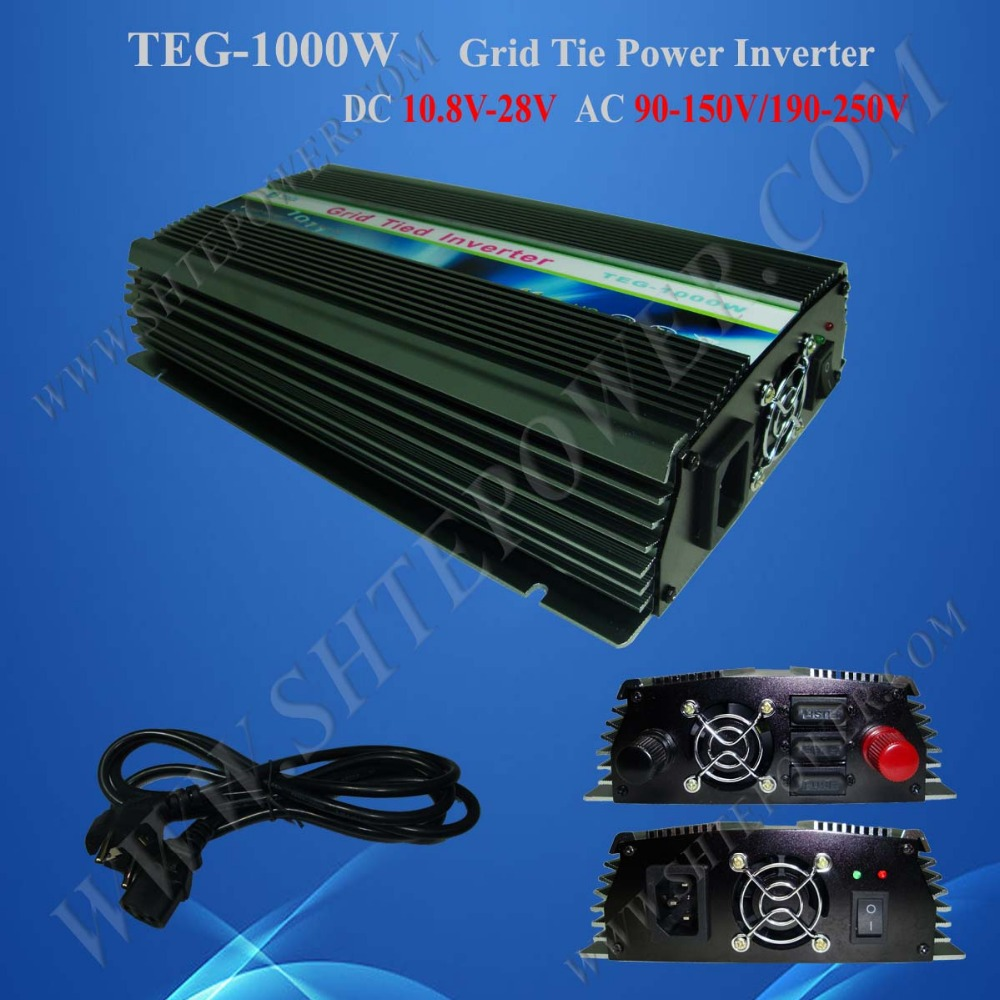 MPPT Control 12 volt DC to 220 volt AC Tie Grid Inverter 1000W for Solar Panel