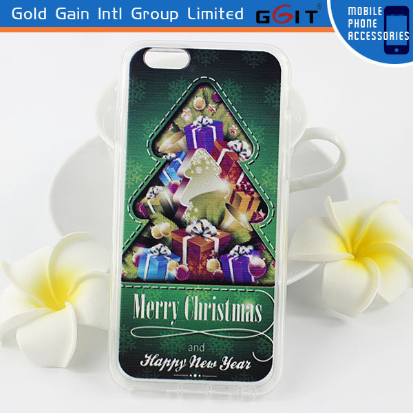 China wholesale Accessory Christmas Mobile Phone for iPhone 6 TPU Case