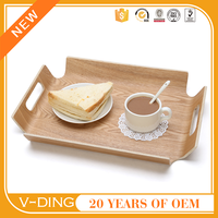 V-DING new product rectangular wooden pallets bent wood serving tray