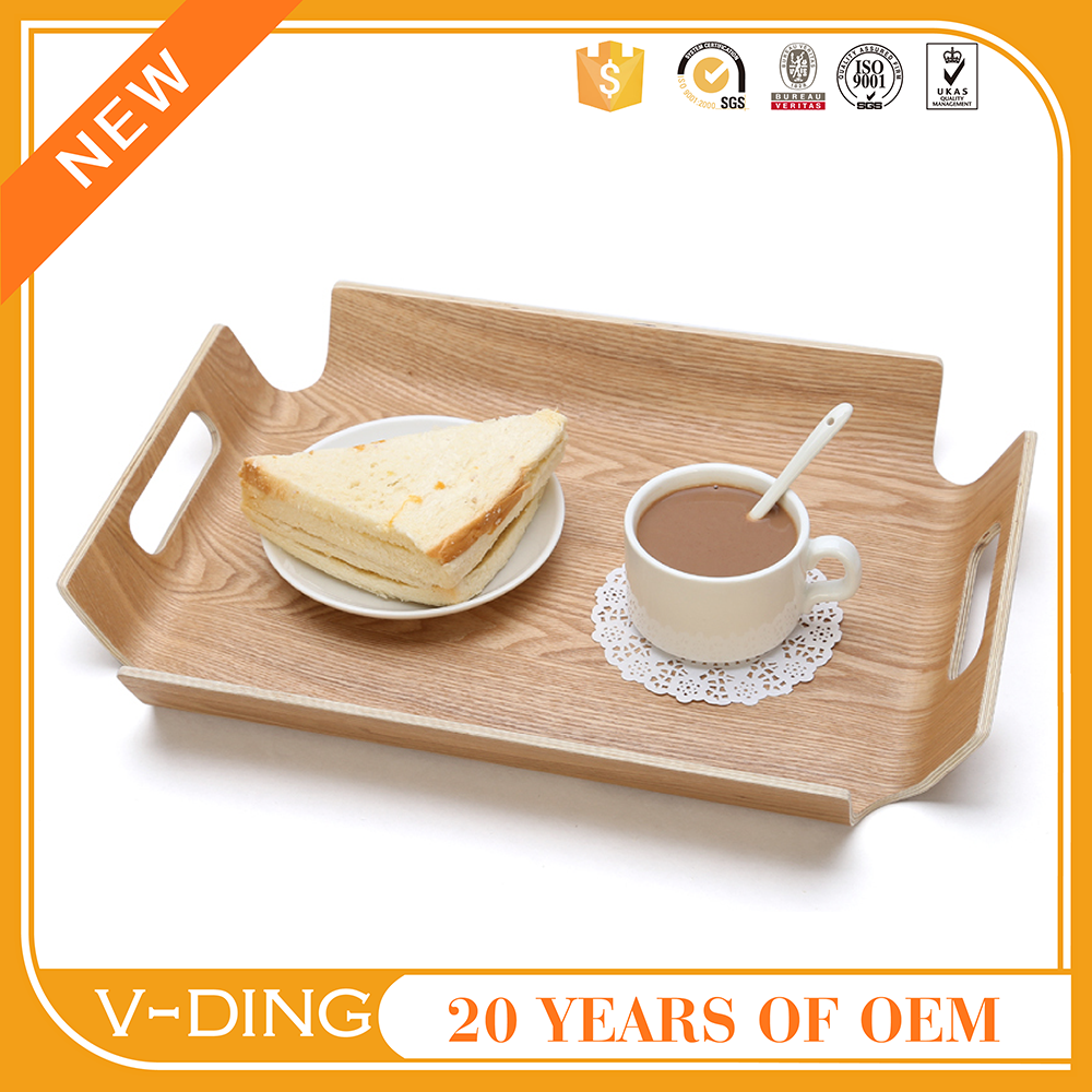 VDING new product rectangular wooden pallets bent wood serving tray