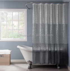 home goods double swag shower curtain/ 70'' 72'' home textile shower curtain