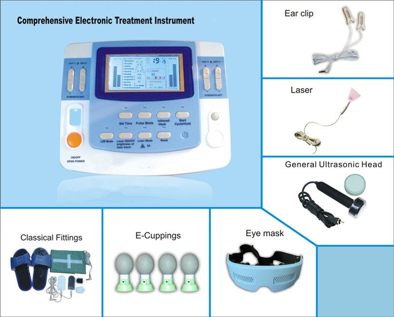 integrated ultrasound electronic muscle stimulator with laser EA-F29