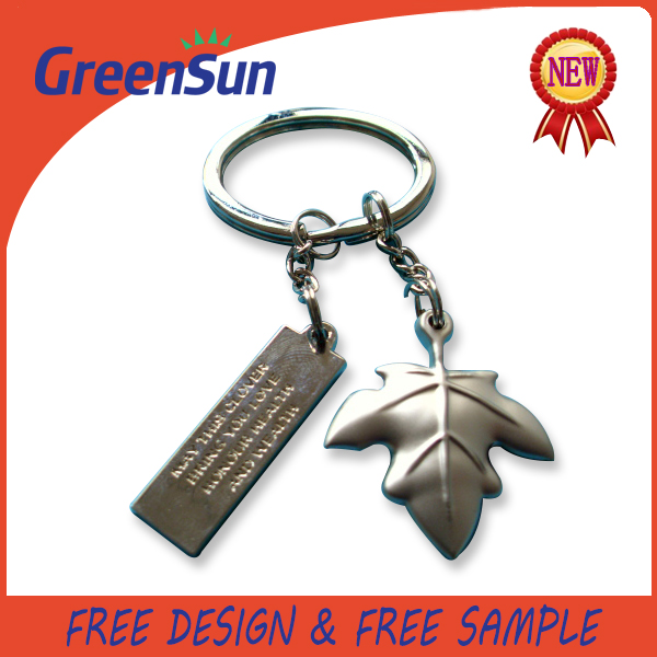 Modern hot selling metal owl keychains