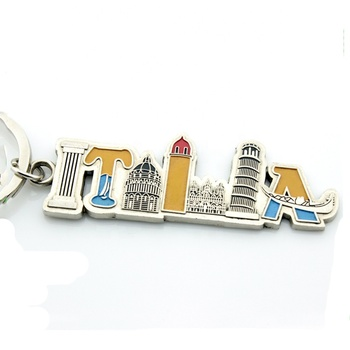 2013 Best Sell Italy Souvenir Building Key Chain For Tourist Gift (LF-QW248)