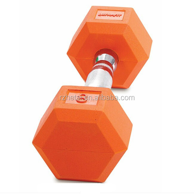 eco friend brand new colored hex rubber dumbbell