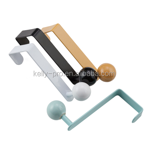 Coat and Hat Hooks with Colorful Ball Over Door Hooks