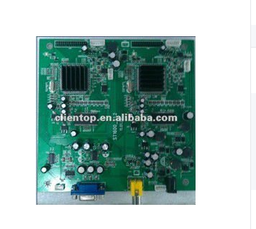 High definition Lcd lvds Advertising video wall control board with AV input