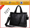 Cheap 100% SGS Guarantee free customize logo pu leather carry hand bag for man