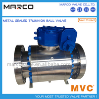 Casted and forged steel material widely applied sea water,water treatment,hot water ball valve