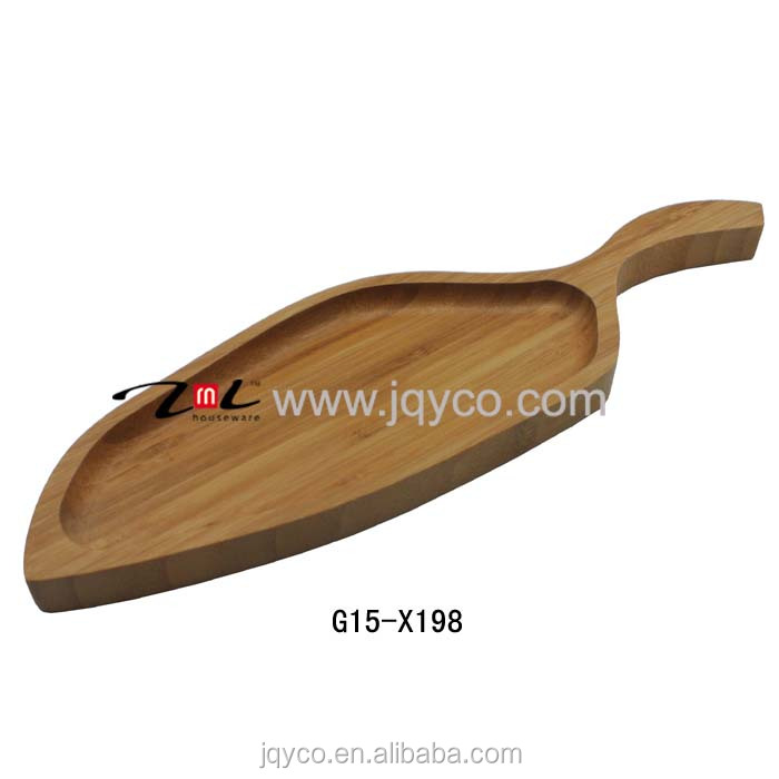 wholesale tray bamboo/bamboo customized plates with certificate
