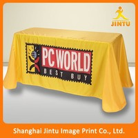 cheap customized 6ft 8ft tradeshow table cloth linens