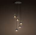 Crystal Small Black Pendant Light Shop Light Fixtures 5 Ceiling Lamp