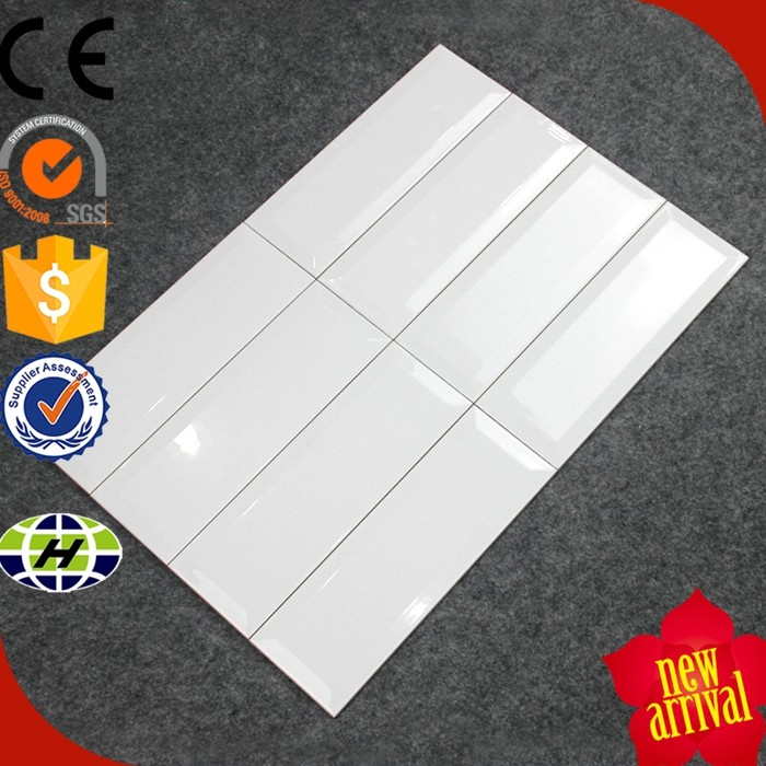 100x300mm color glazed kitchen color bevel wall ceramic tiles